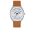 Nixon Time Teller Deluxe Watch - Silver Sunray/Saddle: Image 1