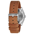 Nixon Time Teller Deluxe Watch - Silver Sunray/Saddle: Image 3