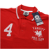 Varsity Team Players Men's College Polo Shirt - Red/White: Image 2