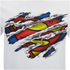 DC Comics Mens Superman Torn Logo T-Shirt - Wit: Image 5