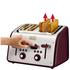 Tefal Maison TT7705UK Stainless Steel 4 Slice Toaster - Pomegranate Red: Image 5