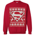 DC Comics Men's Superman Christmas Fairisle Sweatshirt - Red: Image 1