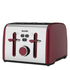 Breville VTT628 Colour Notes 4 Slice Toaster - Red: Image 1