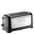 Dualit 46025 Lite 4 Slice Long Slot Toaster - Metallic Black: Image 1