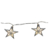 Parlane Star Glass Garland Lights - Silver (Set of 24): Image 1