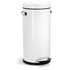 simplehuman Round Steel Retro Pedal Bin - White 30L: Image 1