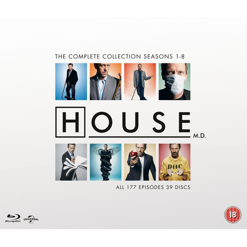 House M.D. Complete Collection (Seasons 1-8 - 39-Disc Box Set) (Blu-ray) $54.73 Shipped