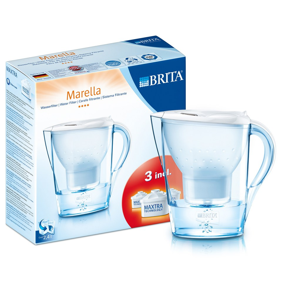 brita marella water filter with 3 cartridges white 2 4l iwoot. Black Bedroom Furniture Sets. Home Design Ideas