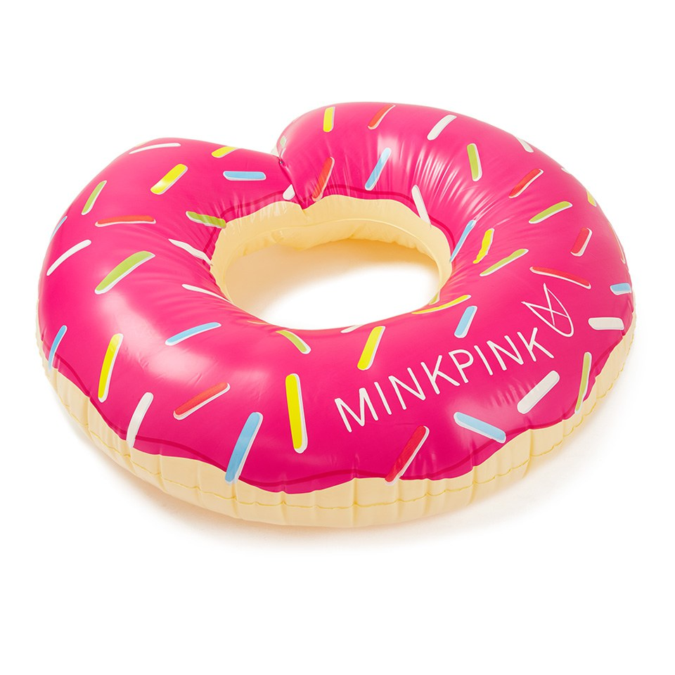 MINKPINK Womens Inflatable Donut Rubber Ring Pink Free