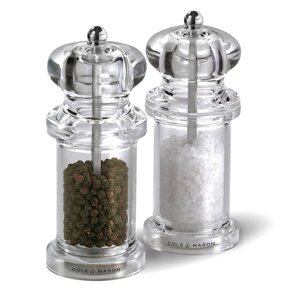 cole mason acrylic salt and pepper mill gift set iwoot. Black Bedroom Furniture Sets. Home Design Ideas