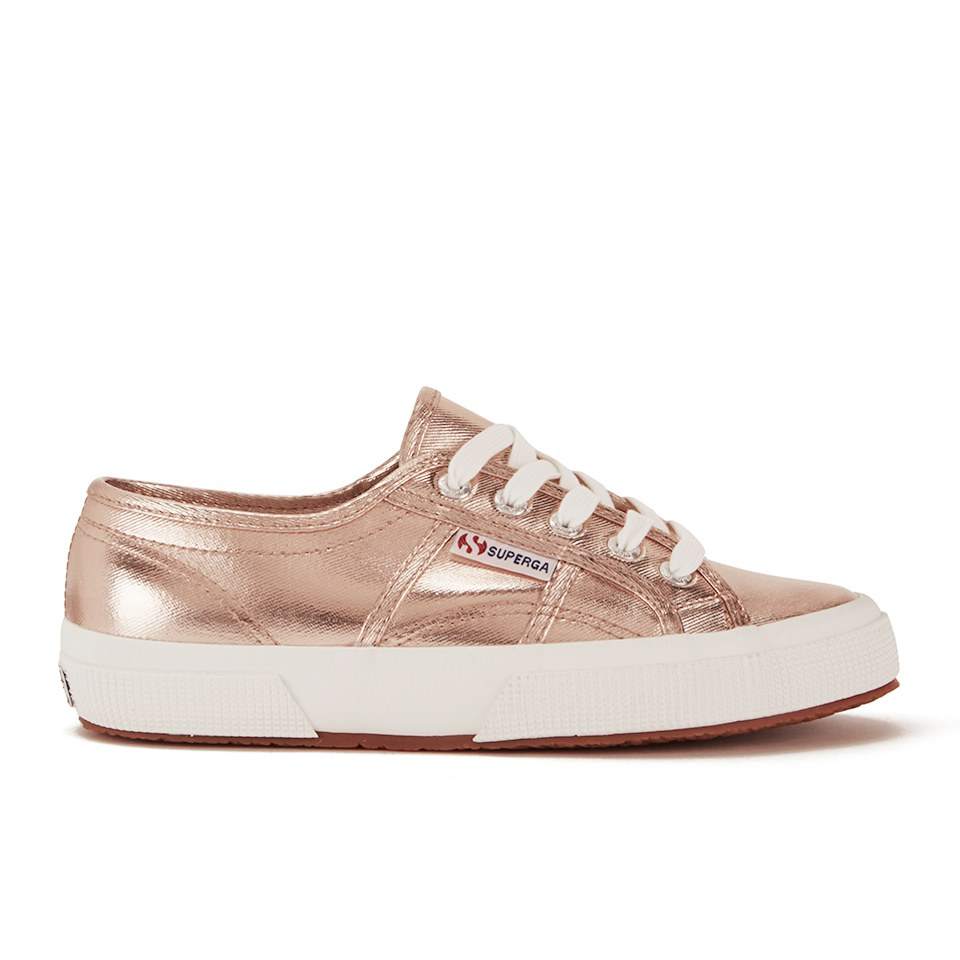 Superga Womens 2750 Cotmetu Trainers Rose Gold Womens Footwear
