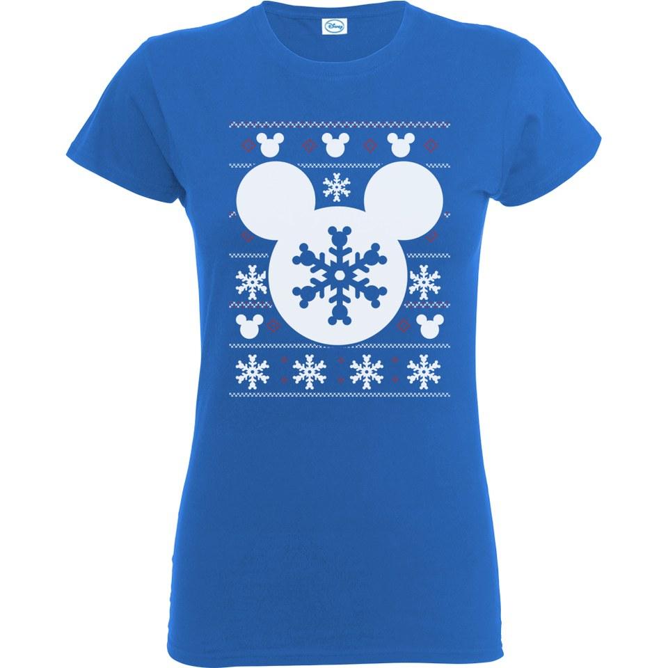 Disney Mickey Mouse Women S Christmas Silhouette Snowflake
