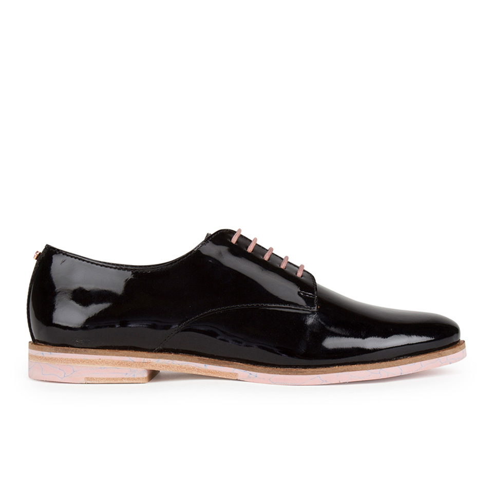 Ted Baker Womenu0026#39;s Loomi Patent Leather Oxford Shoes - Black - FREE UK Delivery