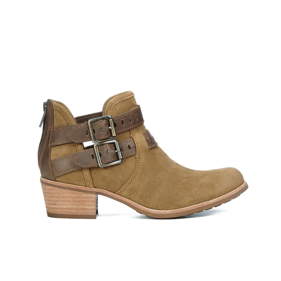 ugg s patsy heeled suede ankle boots chestnut