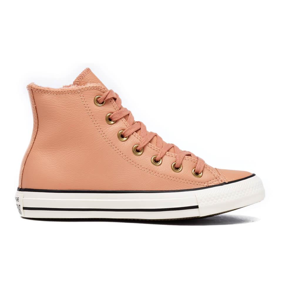 Converse Women S Chuck Taylor All Star Leather Fur Hi Top