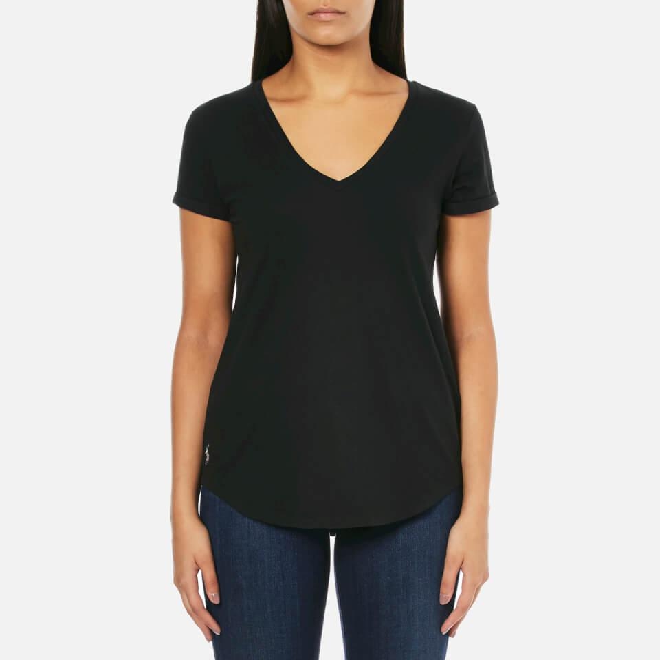 Polo Ralph Lauren Women 39 S V Neck T Shirt Black Free Uk