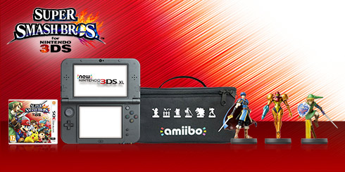 New Nintendo 3DS XL Gamers amiibo Pack