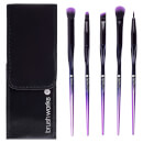 brushworks HD Precision Eye and Brow Brush Set