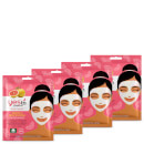 yes to Grapefruit Vitamin C Glow Boosting Single Use Mask (Pack of 4)