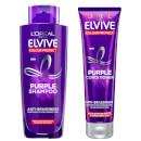 L'Oréal Paris Elvive Colour Protect Anti-Brassiness Purple Shampoo and Conditioner Set - Exclusive