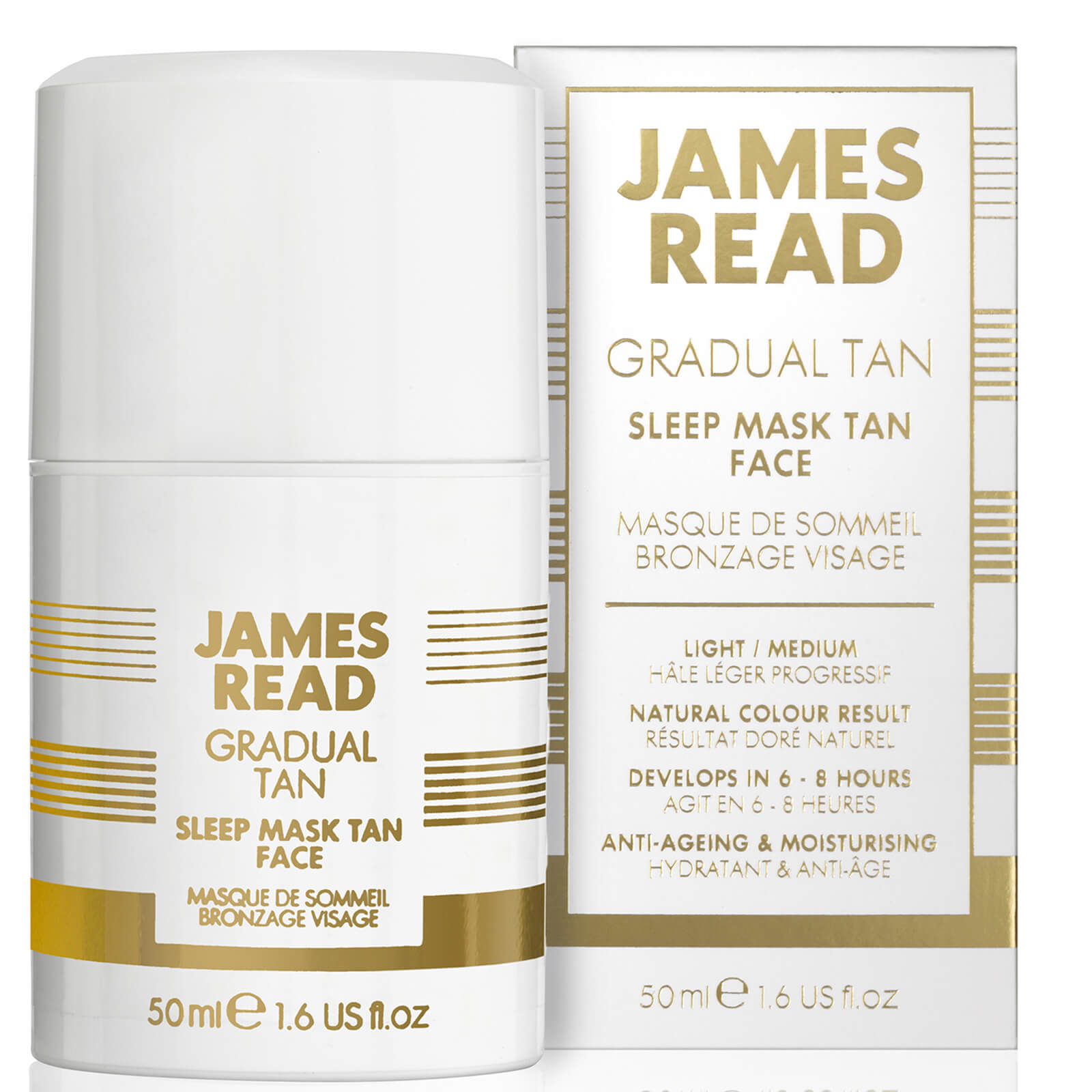 James Read Sleep Mask Tan Face 50ml Free Delivery