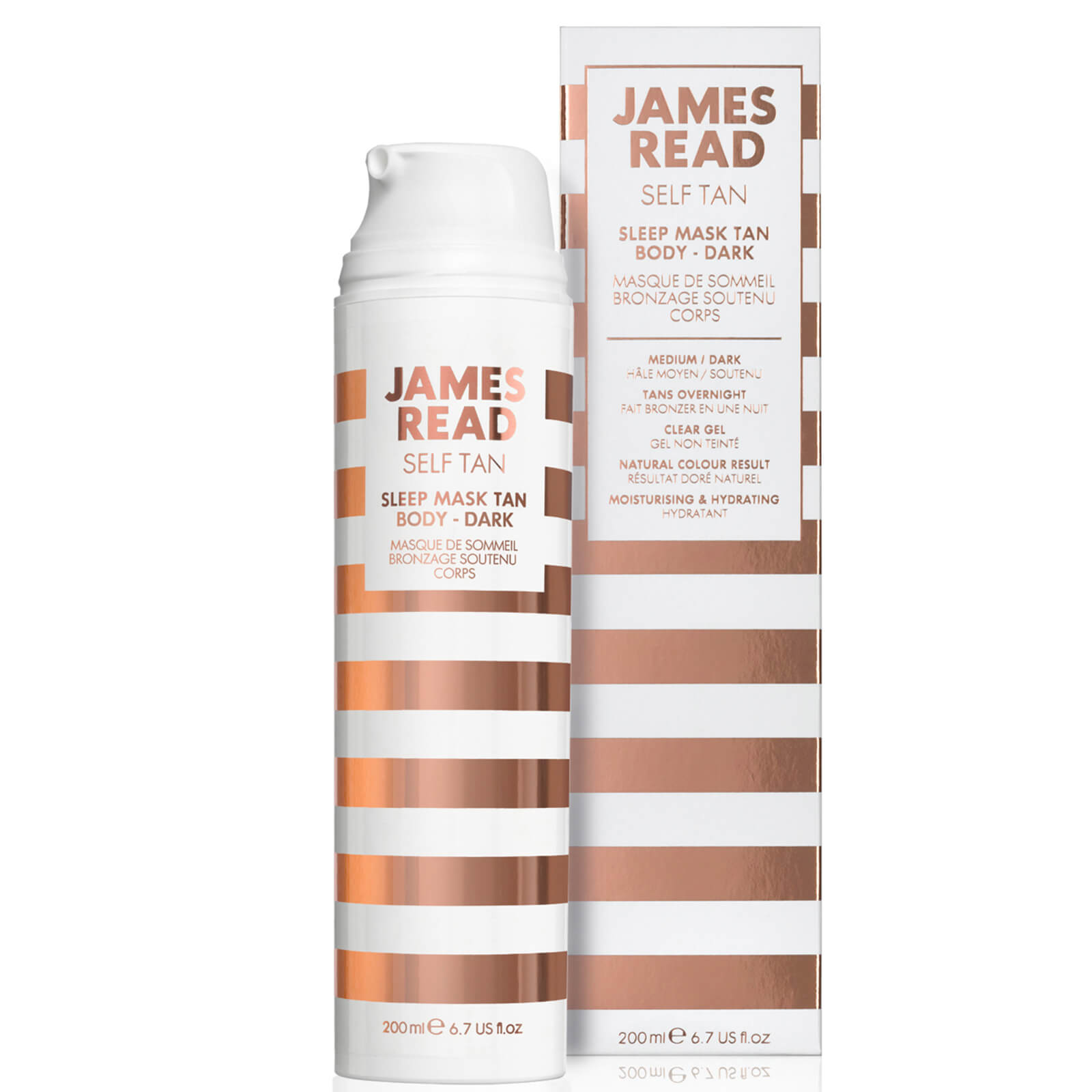 James Read Sleep Mask Tan Go Darker Body 200ml Free Delivery