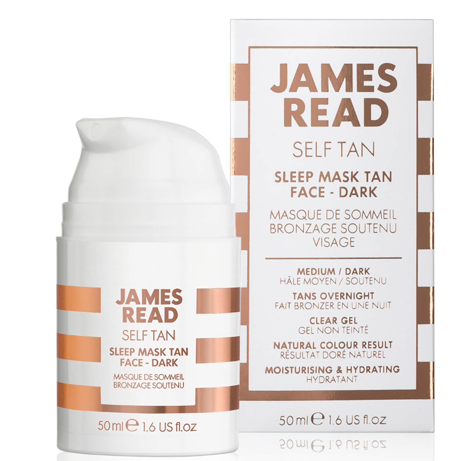 James Read Sleep Mask Tan Go Darker Face 50ml Free Delivery