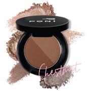 PONi Cosmetics Duo Brow Powder - Chestnut
