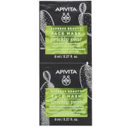 APIVITA Express Moisturizing & Soothing Face Mask -kasvonaamio 2 x 8ml, Prickly Pear