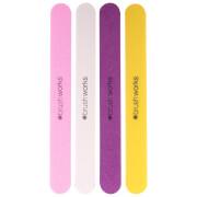 brushworks Coloured Emery Boards(브러시웍스 컬러드 에머리 보드, 4개 세트)