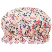 The Vintage Cosmetic Company Shower Cap - Pink Floral Satin