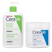 Duo Crème Lavante Hydratante et Baume Hydratant Grand Format CeraVe