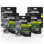L'Oréal Paris Men Expert Pure Charcoal Face Mask x5