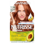 Garnier Nutrisse Permanent Hair Dye - 7.34 Light Natural Red