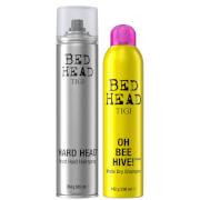 TIGI Bed Head Hair Styling Set with Dry Shampoo and Hairspray