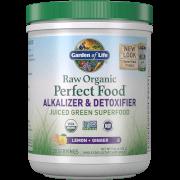 Raw Organic Perfect Food Alkalizer and Detoxifier - Lemon-Ginger - 282g