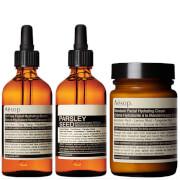 Aesop Mandarin Facial Cream, Parsley Seed Serum and Lightweight Serum Bundle