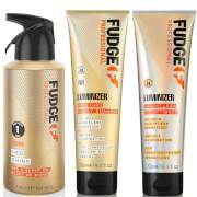 Fudge Professional Luminizer Shampoo, Conditioner and Hed Shine Bundle