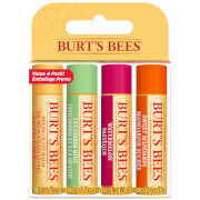 Burt's Bees 100% Natural Moisturising Lip Balm (Pack of 4)
