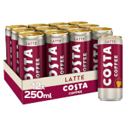 Costa Coffee Latte 12 x 250ml
