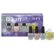 OPI Shine Bright Collection Nail Treatment Mini Gift Set 4 x 3.75ml
