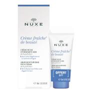 NUXE Crème Fraiche de Beauté 48hr Moisturising Cream for Dry Skin 30ml with 15ml Gift (Worth £25.50)