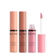 NYX Professional Makeup Butter Gloss Lip Gloss Trio - Praline, Éclair and Fortune Cookie