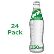 Sprite No Sugar 24 x 330ml Glass Bottle