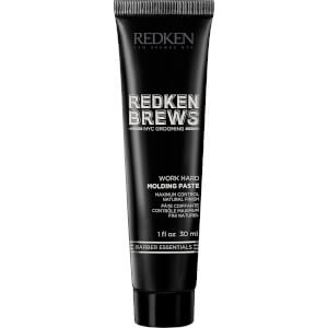 Redken Brews Men's Work Hard Molding Paste 30ml (Free Gift)