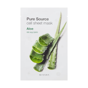 MISSHA Pure Source Cell Sheet Mask - Aloe 28g (Free Gift)