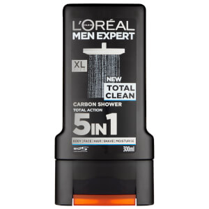 L'Oréal Men Expert Shower Gel 300ml Total Clean (Free Gift)