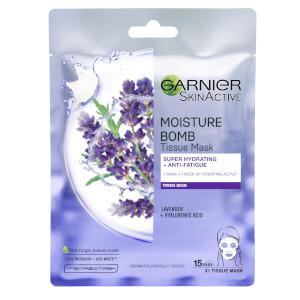 Garnier Moisture Bomb Lavender Hydrating Face Sheet Mask Fatigued Skin 32g (Free Gift)