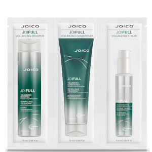 Joico JoiFULL Volumising Shampoo, Conditioner and Styler Trio 3 x 10ml (Free Gift)