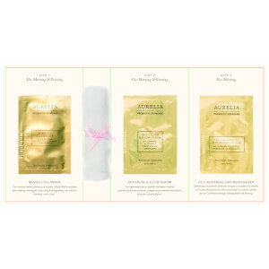 Aurelia Probiotic Skincare 3 Step Sachet Card with Muslin Cloth (Free Gift)